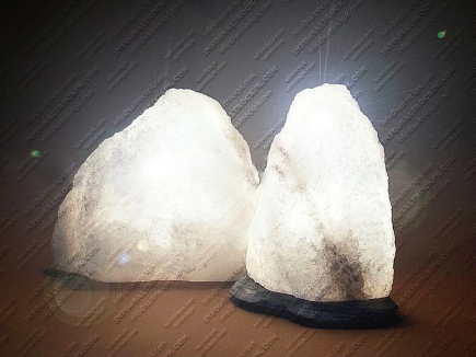 natural white salt lamp 14